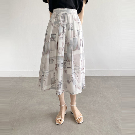 Water Full Long Skirt