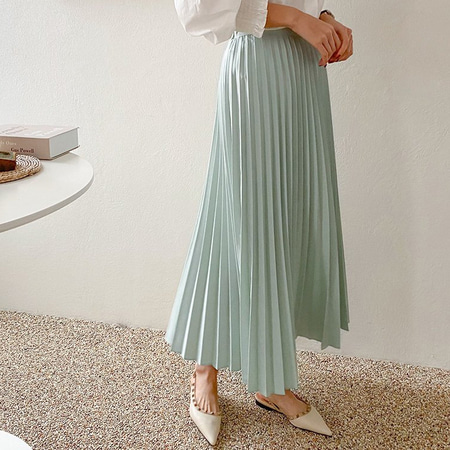 Rose Pleated Long Skirt